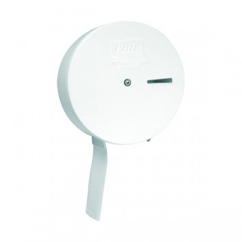 DISPENSADOR ROLLO JUMBO METALICO BLANCO